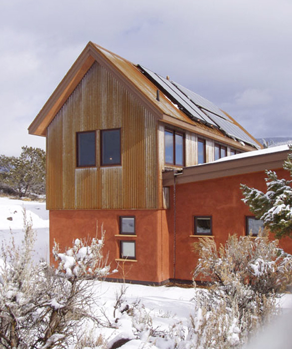 Energy Efficient Straw Bale Home In The Colorado Rockies
