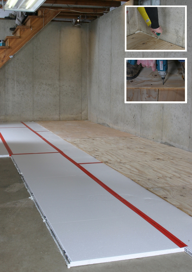 Green Basement Renovation Adding Under A Home GreenBuildingAdvisor - Best material for basement floor