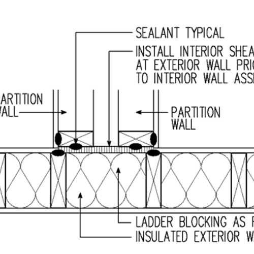 air sealing for common walls between dwelling units