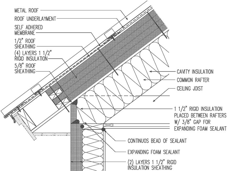 Metal Roof Unvented Exterior 6 Quot Rigid Insulation
