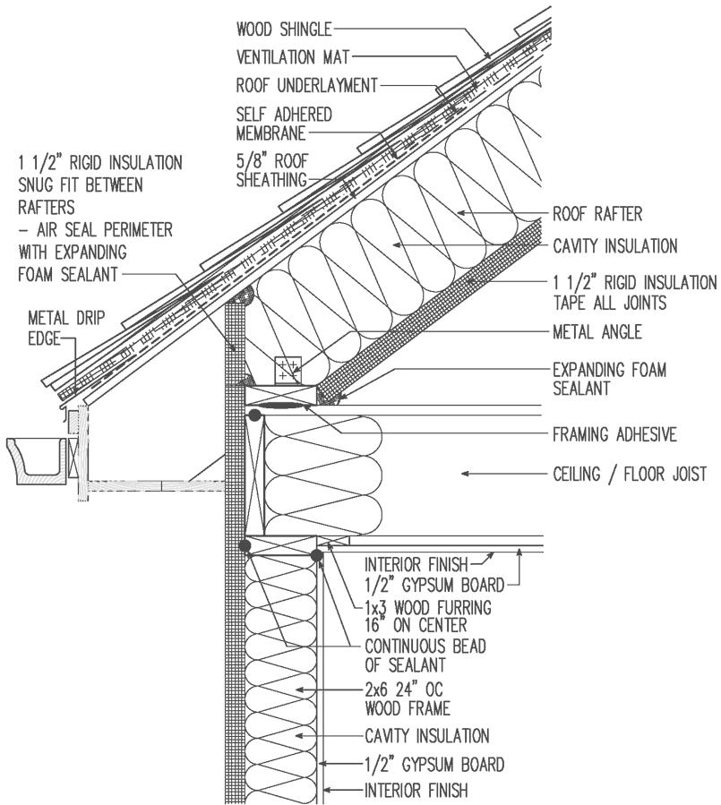 Wood Shingle Roof Unvented Interior 1 1 2 Quot Rigid