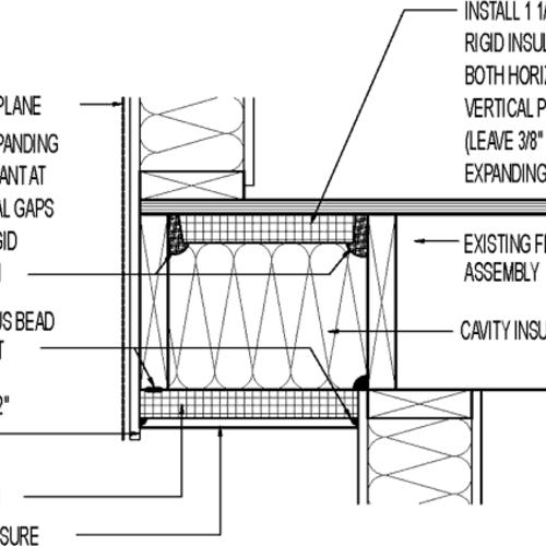 insulated cantilever floor      cavity insulation with 1 1  2 u0026quot  rigid insulation closure