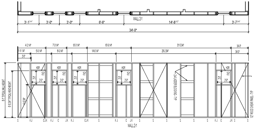 2 U0026 39 -0 U0026quot  Plan Layout With Wall Elevation