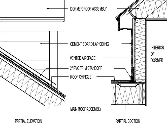 Existing Dormer New Cement Board Lap Siding Pvc Trim