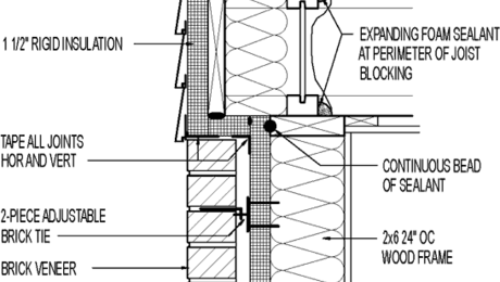Wall section // wood lap siding // above brick veneer // 1