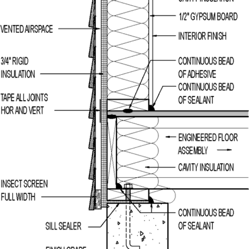 Wall Section Wood Lap Siding 3 4 Quot Rigid Insulation