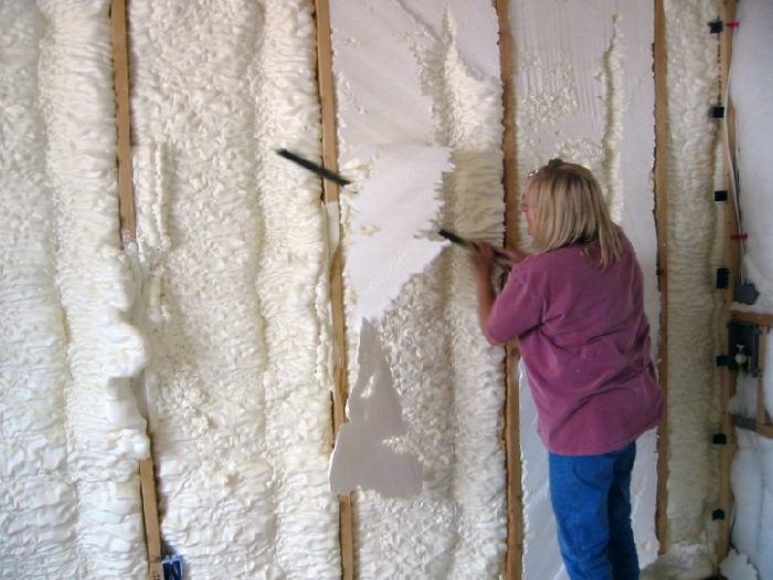 Spray foam insulation - GreenBuildingAdvisor