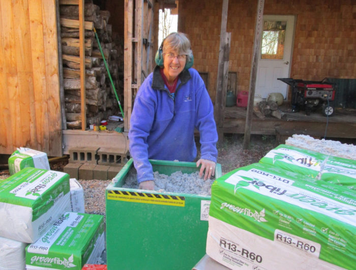 Borrowing a cellulose blower from a big box store greenbuildingadvisor was in charge of feeding the insulation into the hopper she was careful to keep her fingers clear of any moving parts solutioingenieria Image collections