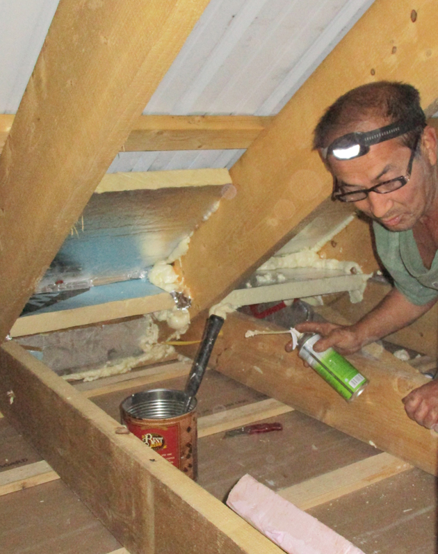 Borrowing a cellulose blower from a big box store greenbuildingadvisor any insulation work starts its important to perform air sealing work at the ceiling and to complete ventilation and insulation dam details at the solutioingenieria Choice Image