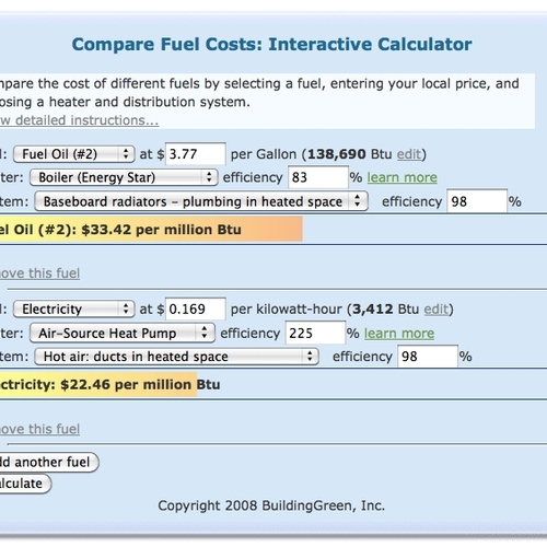 Which Heating Fuel is Cheaper, Electricity or Natural Gas