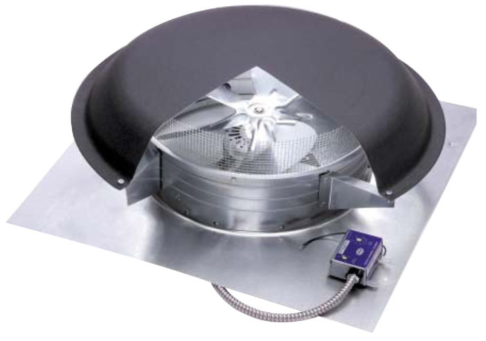 ... ex&le of the u201cbadu201d kind of attic fan a powered attic ventilator.  sc 1 st  Green Building Advisor & Fans in the Attic: Do They Help or Do They Hurt? - GreenBuildingAdvisor