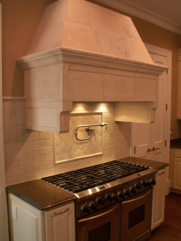 Image 1 Of 2. This Limestone Covered Range Hood ...