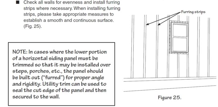 Can Vinyl Siding Be Applied Over Furring Strips