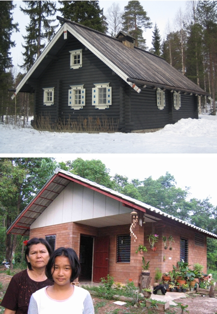 A simple gable roof works in all climates the house at the top is in finland the one at the bottom is in thailand image credit image 1 top ezioman