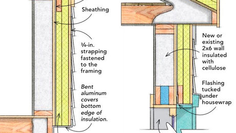 How to insulate a wall from the outside greenbuildingadvisor for What type of insulation for exterior walls