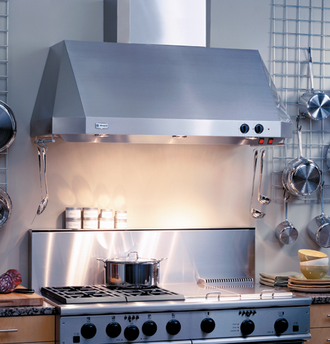 Hold On To Your Hat, Iu0027m Turning On The Exhaust Fan. GE Sells Several  Powerful Range Hood Fans, Including The Monogram ZV48TSFSS, Which Is Rated  At 1,200 ...