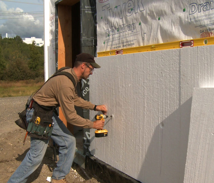 Calculating the minimum thickness of rigid foam sheathing for Green board exterior sheathing