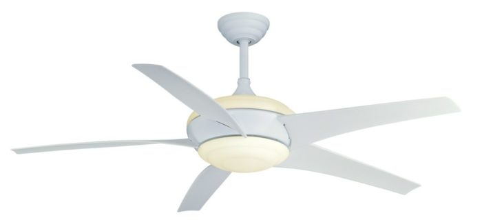 Using ceiling fans to keep cool without ac greenbuildingadvisor efficient blade design lowers energy use designed by engineers from the florida solar energy center the gossamer wind ceiling fan moves more air with less aloadofball Image collections