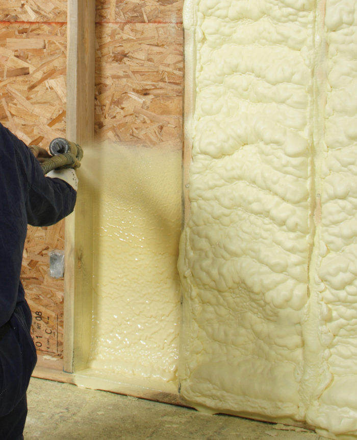 Installing Closed-Cell Spray Foam Between Studs is a Waste