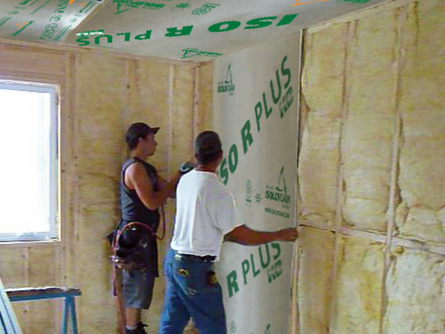Marvelous Some Remodelers Install Rigid Foam On The Interior Side Of Exterior Walls.  While The Best Place To Install Rigid Foam Is Usually On The Exterior Side  Of The ...