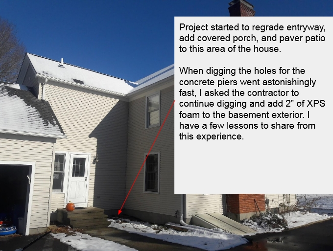 Lessons learned from exterior basement insulation retrofit
