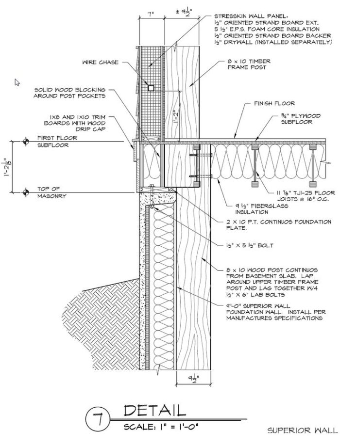 Timber Frame Post Sip Sill Connection Question