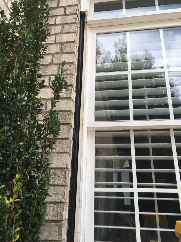 New Vinyl Replacement Windows Gap Between Framing