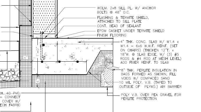 How to protect a shallow monolithic footer during winter