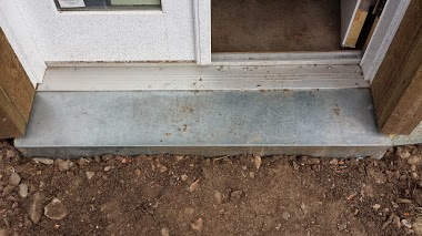 How to install an interior door threshold on concrete home plan for Installing exterior door on concrete