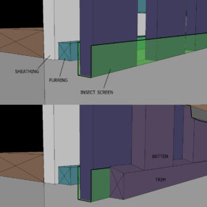 How Do I Detail Unfinished Wood Rainscreen Siding