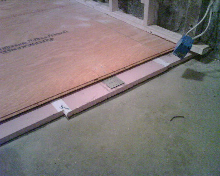 Floating Plywood Floor On Rigid Foam Insulation On Concrete