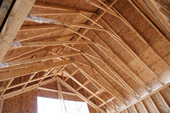 Spray Foam In Cathedral Ceiling And Attic Floor Joists