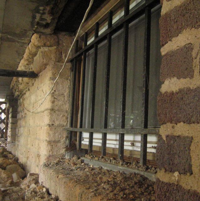 Parging A Spalling Brick Wall