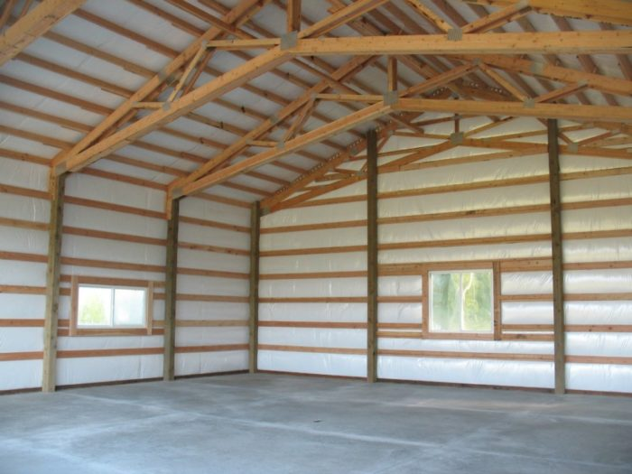 Open truss post frame roof - GreenBuildingAdvisor