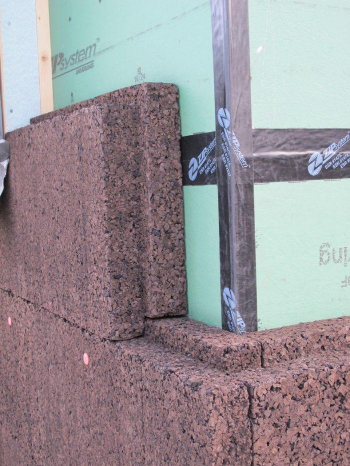 Cork insulation on our farmhouse greenbuildingadvisor - Icon exterior building solutions ...
