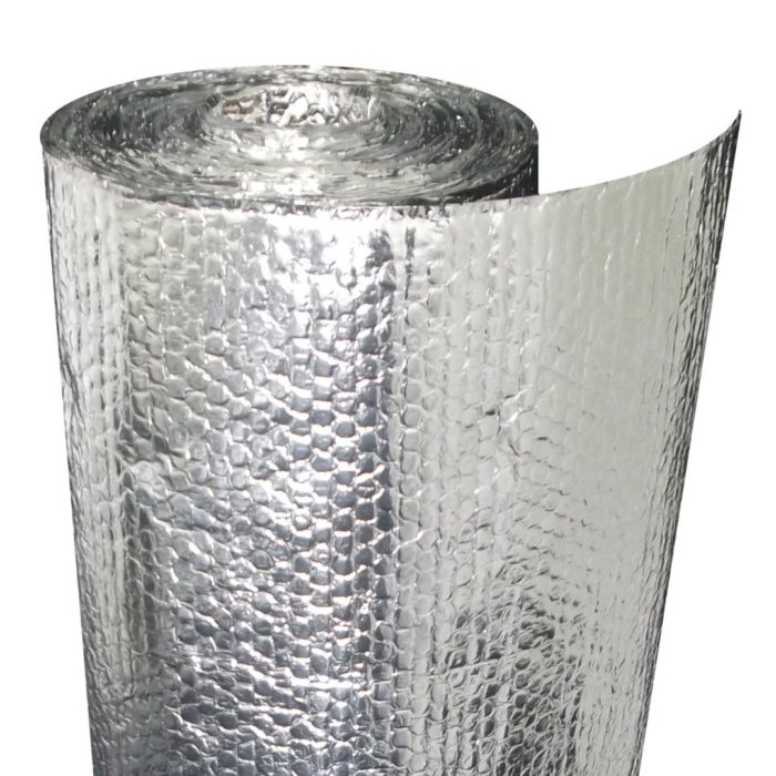 x 100 ft Double Reflective Insulation Roll with Double Air Reach Barrier 2 ft