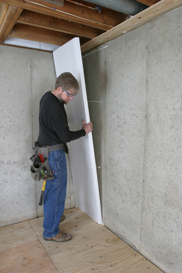 How to insulate a basement wall greenbuildingadvisor for Types of insulation for basement