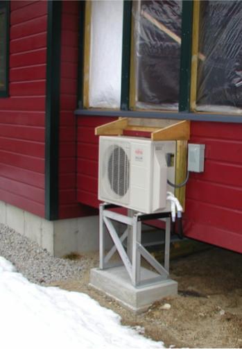 Tall Minisplit Stand For Snowy Climate Greenbuildingadvisor