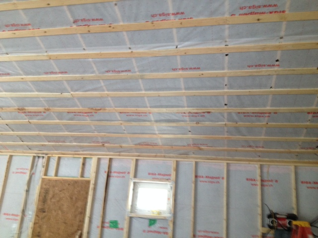 Insulating Ceiling During Winter Construction