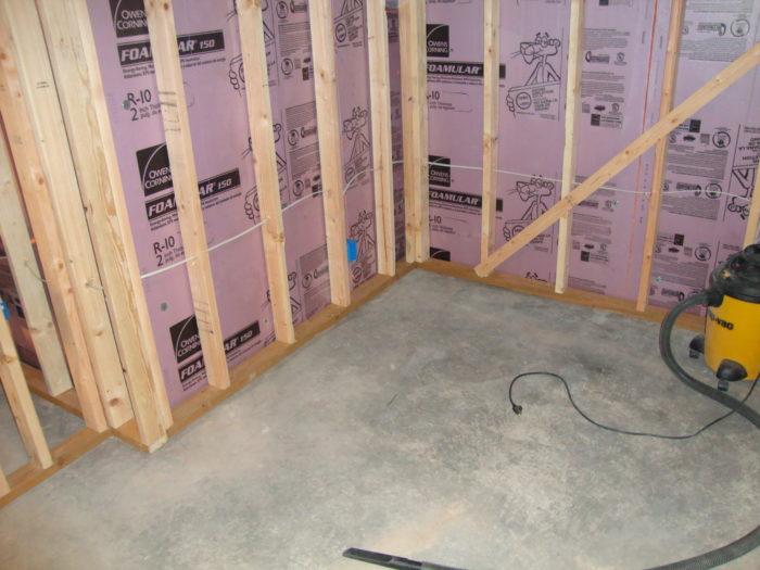 Basement Floor Underlayment Foam Or No Foam GreenBuildingAdvisor - Underlayment on concrete floor in basement