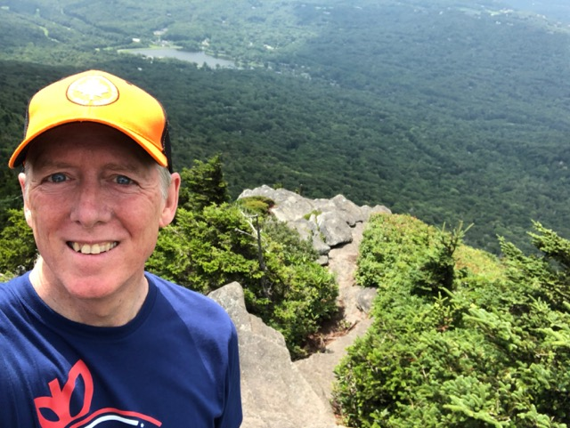 Hiking the Grandfather Mountain trail in North Carolina