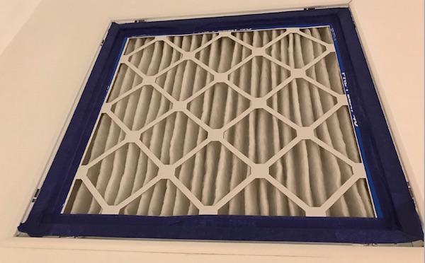 """John Semmelhack's 2"""" filter grille with MERV-13 filter (Image by John Semmelhack)"""