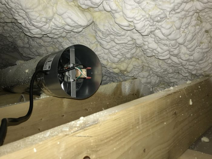 Spray foam insulation post-install chemical smell (not rotten fish