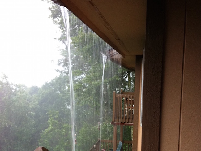 Rain and moderate temperatures can mean sticky conditions, unless you have a dehumidifier