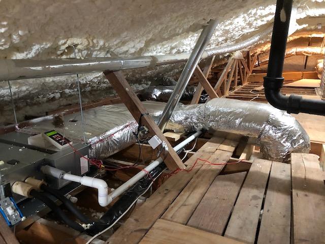 Pressure drop measurement across the return duct of the bedrooms zone air handler