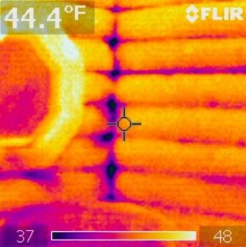 Infrared camera reading