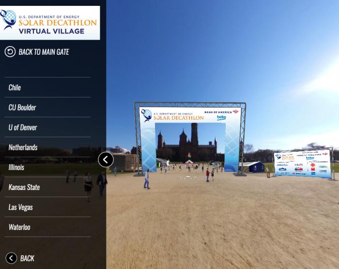 Screen shot of Solar Decathlon web page