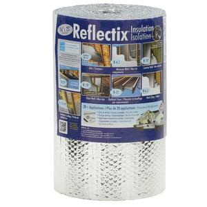 Heat Reflector Insulation 0.6 x 25 m Dripex Double Sided Bubble Aluminium Thermal Insulation 3-4 mm Insulation for Radiator Floors Roof Wall