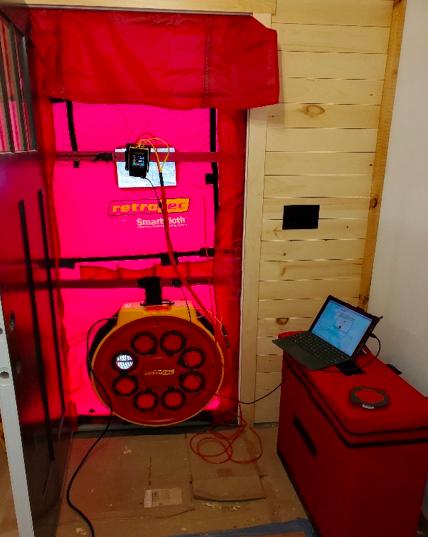 Blower door setup
