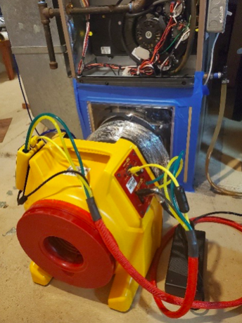 Duct tightness testing equipment
